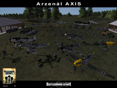 World War II Online: Battleground Europe, arzenál AXIS - screenshot